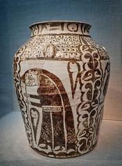 Earthenware Jar Iraq Abbasid Period 10th century CE (mharrsch) Tags: ceramic washingtondc smithsonian iraq jar earthenware freergallery 10thcenturyce mharrsch abbasidperiod nationalmuseumofasianart