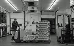 Goodbye to all that (Fray Bentos) Tags: work warehouse workplace rodinal retirement ppt mhe zeisstessar disgruntledemployee rolleiretro400 jungheinrich mechanicalhandlingequipment poweredpallettruck weltaweltax