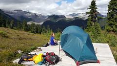 Tent Pad (Canadian Veggie) Tags: camping mountains emily bc hiking tent backcountry garibaldi elfinlakes garibaldiprovincialpark overnighthike explorebc tentpad