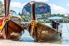 Longtailboat on James Bond island (janetfrerichs) Tags: ocean sea thailand boot meer outdoor ausflug longtailboat krabi nga phang südsee andamanensee