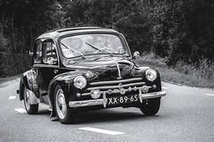 Renault 4 CV (Roberto Braam) Tags: xx8965 renault r1062 french voiture automobile car vehicle classic black blackandwhite blackwhite monochrome oldtimer scene oldie vintage auto europe european klassieker model old robertobraam scenery vehikel zwartwit 4cv groningen westerkwartier event dutch
