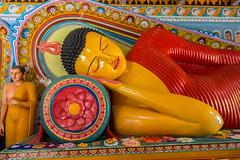 Detail, Reclining Buddha, Isurumuniya Monastery, Anuradhapura, Sri Lanka (Peter Cook UK) Tags: sri lanka isurumuniya reclining anuradhapura statue buddha monastery