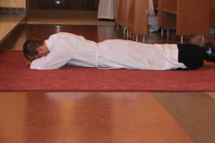 Prostration during Litany of the Saints