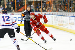 """Missouri Mavericks vs. Allen Americans, March 3, 2017, Silverstein Eye Centers Arena, Independence, Missouri.  Photo: John Howe / Howe Creative Photography • <a style=""""font-size:0.8em;"""" href=""""http://www.flickr.com/photos/134016632@N02/33232470986/"""" target=""""_blank"""">View on Flickr</a>"""