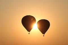 sun kiss (PawL23) Tags: balloonsoverbagan balloons sunrise sun starburst silhouette myanmar burma bagan
