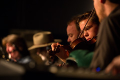 Joe MacMaster shares the stage with fellow musicians. (photo: Steve Wadden)