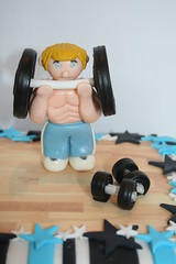 IMG_8878 (baking you happy by Katie's cakes) Tags: cake mens weightlifting topper