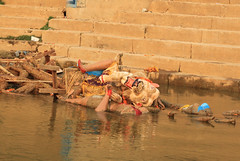 IMG_5369 (lethologically) Tags: people india heritage history tourism water sunrise buildings river temple boat asia buddha religion silk places blessing holy varanasi ritual hindu hinduism oldcity ganges sarnath riverbanks ghat holywater northindia historicalsites oldcities heritagesites incredibleindia