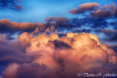 Clouds at Sunset (travelphotographer2003) Tags: sunset usa color beauty clouds evening solitude westvirginia serenity serene majestic stormclouds appalachianmountains alleghenymountains mountainsunset beautyinnature webstercounty