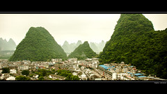 Yangshuo Wallpaper 2560 x 1440 (Loek Janssen) Tags: china desktop wallpaper mountains green forest computer town nikon village yangshuo background hd 169 d80 1920x1080 2560x1440