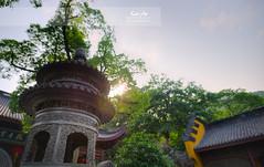 Against the Light - Lingyin Monastery (Andy Brandl (PhotonMix.com)) Tags: china trees temple nikon iron bokeh traditional buddhism ornaments lensflare castiron hangzhou spiritual hdr d800 zhejiang incensevessel lingyinmonastery prayervessel photonmix laoanphotography templeofsoulsretreat