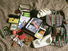 Stuff thats In my Bag. June 29 2013. (iam.kerri) Tags: bag blackberry whats your curve in