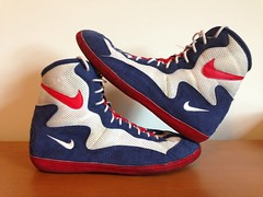 Green Nike Greco Wrestling Shoes