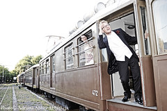 "Wedding Style (ABBRY ""Adriana Abbrescia"") Tags: life wedding white black love colors wow happy amazing cool mood image style stazione amore matrimonio velo promesse sposi treni viata"