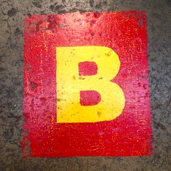 stock    Letter B_ IMG_7884 (Lynn Friedman) Tags: sanfrancisco ca b red usa yellow square word concrete stencil paint floor d label c stock row spell f e scrabble font letter alphabet helvetica 94103 organize missionst a lynnfriedman discountlumber 1695missionstreet 4156218511 wwwdiscountbuilderssupplysfcom