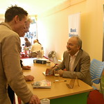 George Galloway signing books