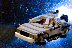 Do You Remember  The Future? (JD Hancock) Tags: travel blue favorite car fun toy flying photo lego image very time bokeh good bttf great picture machine best cc figure excellent greatest minifigs char delorean 5k backtothefuture timemachine martymcfly docbrown 2015 inkitchen jdhancock