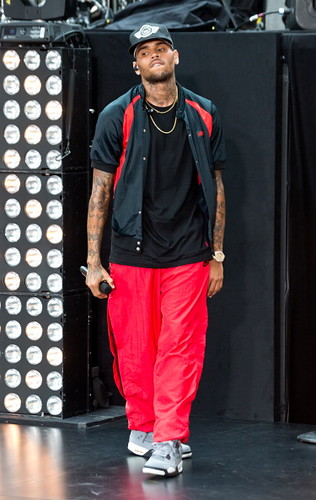Chris Brown performs on NBC TODAY SHOW