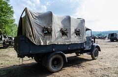 Opel Blitz 3.6S tropical truck (The Adventurous Eye) Tags: truck army action exhibition tropical presentation blitz opel 36s 2013 bahna