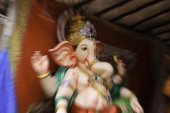 Trying a zoom in while capturing Lord Ganesha statue (remo@b'lore) Tags: india bangalore idol karnataka lordganesha potterytown ganeshchaturthi ganeshpuja vinayakchaturthi