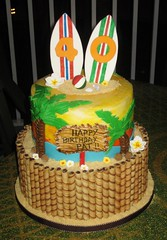 Surfer Cake (daniyellee) Tags: beach cake surfer surfing hut luau surfboard 40 tiki forty