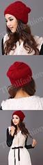 HW-0003-หมวกไหมพรมโครเชต์ลายละเอียดใส่กระชับศีรษะและใบหูอบอุ่นเรียบหรูมีสไตล์