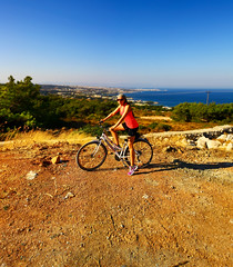 Bike day out (ville_v) Tags: panorama bike bicycle greece rodos rhodes brenizer vision:beach=083 vision:mountain=059
