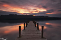 Windermere Sunset (Dave Brightwell) Tags: longexposure sunset sky clouds reflections jetty lakes lakedistrict cumbria hitech windermere bwnd davebrightwell