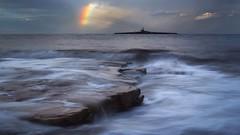 Coquet Rainbow (Amble180) Tags: wild rain island lumix day panasonic northumberland about g3 coquet 1442