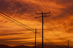 silhouette of powerlines (Macbrian Mun) Tags: sunset red orange cloud black tower industry silhouette electric metal architecture danger landscape grid high wire construction energy iron industrial wiring technology power transformer steel engineering cable structure line pole pylon equipment wires link infrastructure electricity powerline network tall pylons electrical development watt transmission distribution volt supply voltage insulators