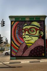 Three Eyed (departing(YYZ)) Tags: travel streetart eye 35mm israel three telaviv nikon asia middleeast third psychedelic 2013 d7000