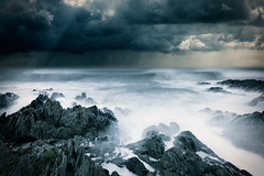 Rocks with sea II (milouvision) Tags: sea coast devon
