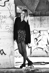 Alice.6 (TRUDI.) Tags: street city portrait urban blackandwhite blancoynegro monochrome beautiful beauty fashion graffiti blackwhite model glamour eyes cityscape emotion noiretblanc outdoor alice gorgeous streetphotography streetportrait sguardo blonde bleak sight moment blondehair cinematic trudi ghetto ritratto cardigan emptiness biancoenero urbanpoetry urbanportrait urbanarte ghettoportrait portraitinblackandwhite portraitinblackwhite thephotographyblog vision:text=0683 vision:outdoor=0952