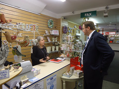 "Stephen Mosley MP visits Kitsch Krafts @ the Post Office in Saltney - a new business established thanks to New Enterprise Allowance • <a style=""font-size:0.8em;"" href=""http://www.flickr.com/photos/51035458@N07/11115433454/"" target=""_blank"">View on Flickr</a>"