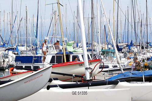 blue sun white lake marina boats switzerland europe sailing geneva harbour sails yachts leman