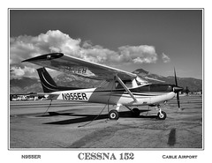 Cessna 152 (blackheartart) Tags: airplane aviation flight cable cessna 152 cessna152 cableairport