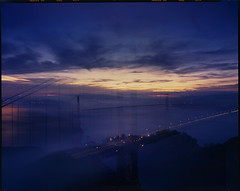 double blended (louie imaging) Tags: sf life camera city bridge light sunrise dawn golden bay gate san francisco mood large first double 8x10 area format moment impression vibe transitional