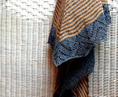 Dream Stripes (KeTreKo) Tags: orange yellow grey triangle lace stripes shawl holst uld holstyarn dreamstripes