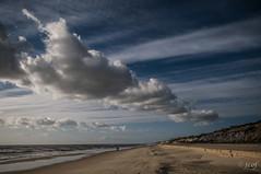 Paisaje de invierno. (jcof) Tags: ocean sea color beach water clouds landscape mar agua huelva playa paisaje arena nubes roca acantilado ola espuma mazagn cuestamaneli asperillo