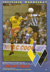 Sheffield Wednesday v Brentford. 1990. (The Wednesday) Tags: cup wednesday sheffield ticket winners league brentford hillsborough programme swfc rumbelows