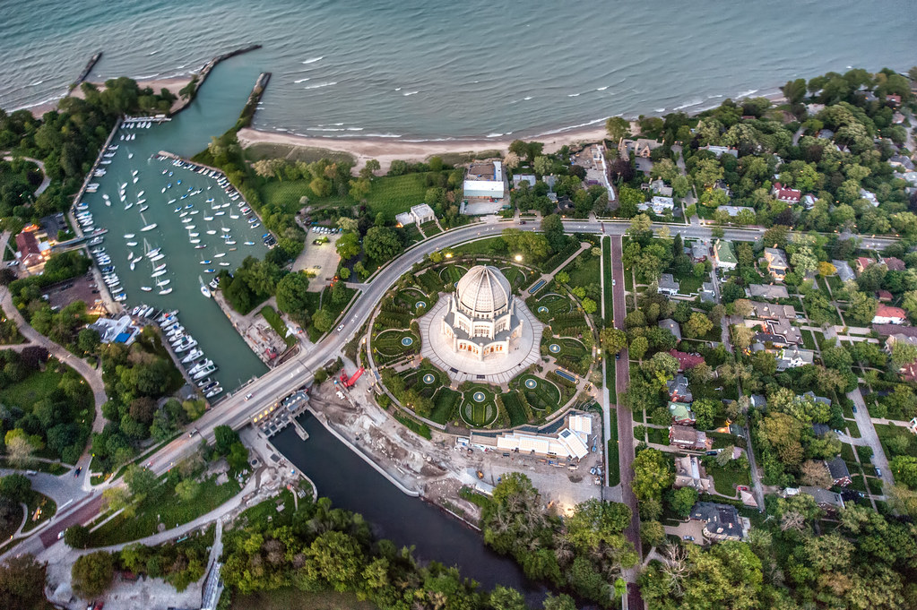 Baha'i Temple From a helicopter!