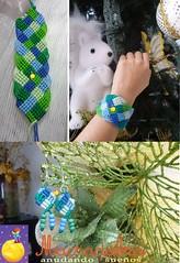 Conjunto de cuadritos #macrame (Macradabra) Tags: handmade bracelet earrings conjunto jewerly aretes macram brazaletes macradabra