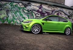 Focus RS (Jordan Gascoigne) Tags: green ford k canon photography eos graffiti focus tech shots reverend sheffield 8 automotive 420 pot fallen soldiers brakes modified jag dare rs rolling alloys cyber induction bhp itg 1000d jamsport fordrst