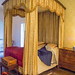 A four-poster bed at lacock Abbey in Wiltshire
