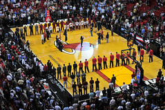 Tell me I'm your National Anthem (flickrfanmk2007) Tags: basketball miami arena national american heat airlines anthem