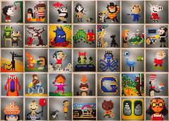 8bit picture books (hilaryleung) Tags: animals lego mosaic books 8bit picturebooks msced