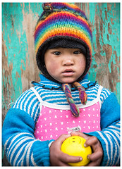 The World That You've Created (MANUELup) Tags: nepal portrait people children kid child play happiness niña himalaya juego annapurna manang