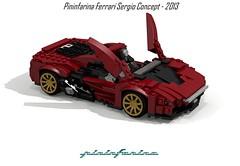 Ferrari Pininfarina Sergio Concept - 2013 (lego911) Tags: auto italy sergio car spider model italian italia lego render ferrari concept viva challenge cad lugnuts 76 barchetta povray pininfarina moc ldd vivaitalia miniland coachbuilt 2013 lego911