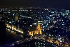 Big Ben dall'alto (Skarlo87) Tags: london eye night river fiume bigben londra tamigi tames