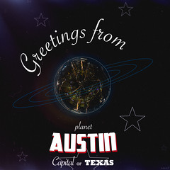 Greetings from Planet Austin (B R A N D) Tags: show city light music chicago rooftop festival night canon austin stars illinois concert texas space postcard band nighttime sxsw planet greetings polar brand 2014 nocturn mrbluesky 2013 austonian krisbrand 2013 2014